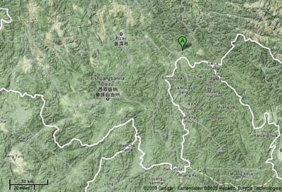 Figure 2. Map of southern Yunnan Province, China.